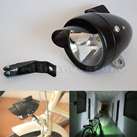 Motorcycle Bright 180LM Metal Black Retro Vintage Bicycle Bike Cycling LED Front Head Light Headlight Fog