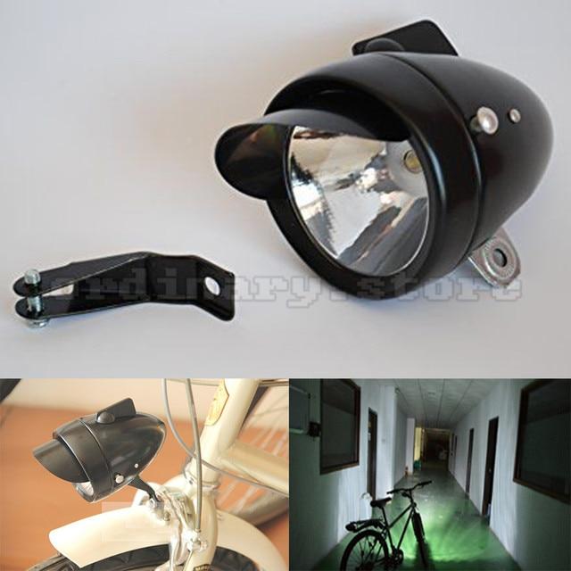 Motocicleta Super Brillante 180LM de Metal Negro Retro Vintage Bicicleta de La Bici LED Frontal Head Luz de Niebla de la Linterna Lámpara de La Noche