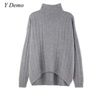 Winter New Wool Sweater Cashmere Turtleneck Solid Color Women S Knitting Sweaters