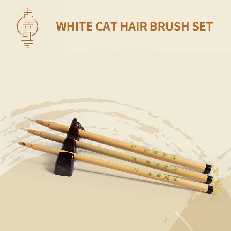 3Pcs/set White Cat hair Hook Line Pen Brush Calligraphy Brush Chinese Traditional Painting Writing Brush Artist Drawing Brush drones box for for dji mavic air case shoulder bag storage bag backpack for dji mavic air quadrotor and accessories