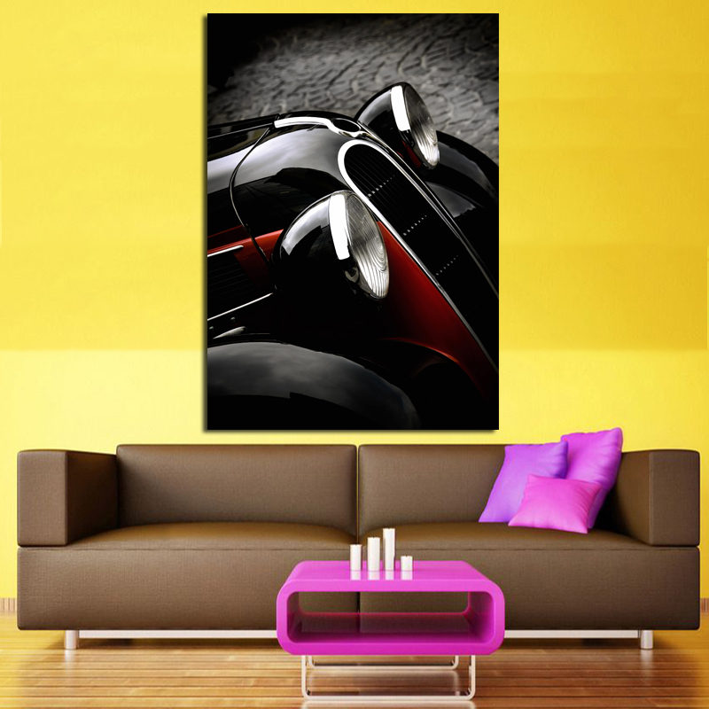 2017 Luxury Sport Sedan Car Canvas Oil Painting Wall Art Picture For ...