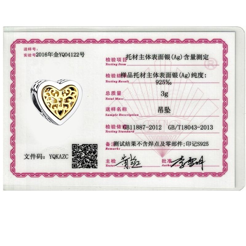 ELESHE Lüks marka 100% 925 Sterling Gümüş Ürək Yaraşıqlı - Moda zərgərlik - Fotoqrafiya 6
