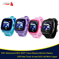 IP67 Waterproof Smart Watch Kids Baby Student GPS WIFI Locator Tracker SOS Call SIM Card Remote Monitor IOS Android Smartwatch