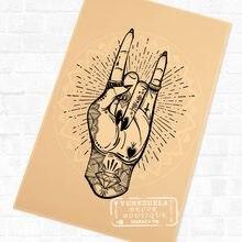Roccia Gesti Creativo Del Tatuaggio Classico Murale Poster Decorativo di  DIY Manifesti Bar decorazione di Arte Della Tela Pittur. 995406e03a85