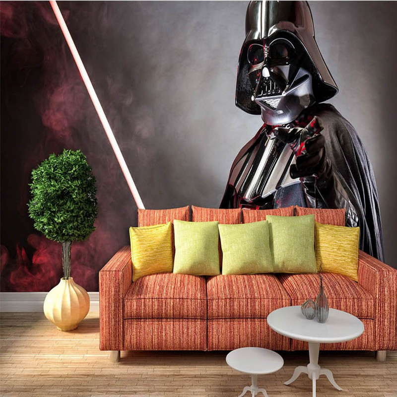Free Shipping 3D Star Wars background wall living room bedroom TV sofa mural wallpaper coffee house home decoration  free shipping 3d wall breaking basketball background wall bedroom living room studio mural home decoration wallpaper
