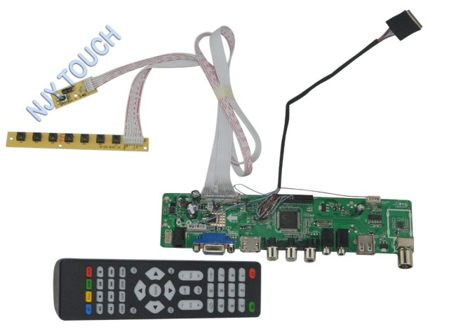 LA.MV56U.A New Universal HDMI USB AV VGA ATV PC LCD Controller Board for 8.9inch 1024x600 B089AW01 LED LVDS Monitor Kit