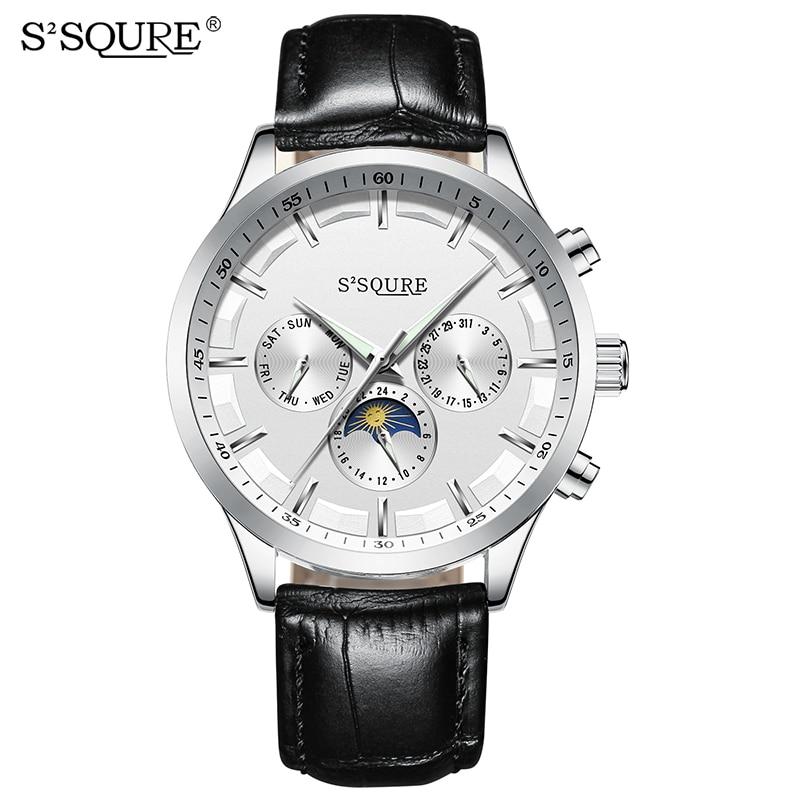 S2SQURE Men Watches Automatic Mechanical Watch Tourbillon Sport Clock Leather Casual Business Retro Wristwatch Relojes Hombre все цены
