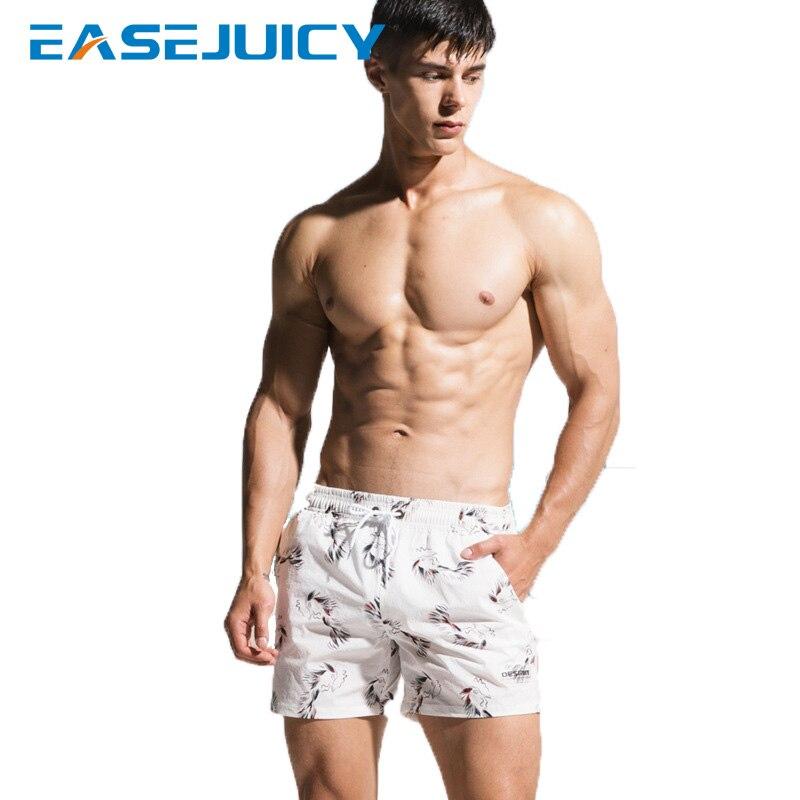 Summer bathing suit Men's board shorts swimming suit swimwear liner plavky joggers hawaiian bermudas printed beach shorts mesh