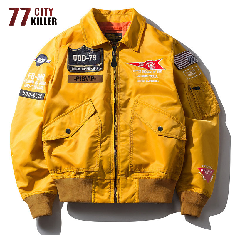 77City Killer New Bomber Jacket Men Spring Autumn Streetwear Air Force Jacket Male Military Windbreaker Hip Hop Chaqueta Hombre