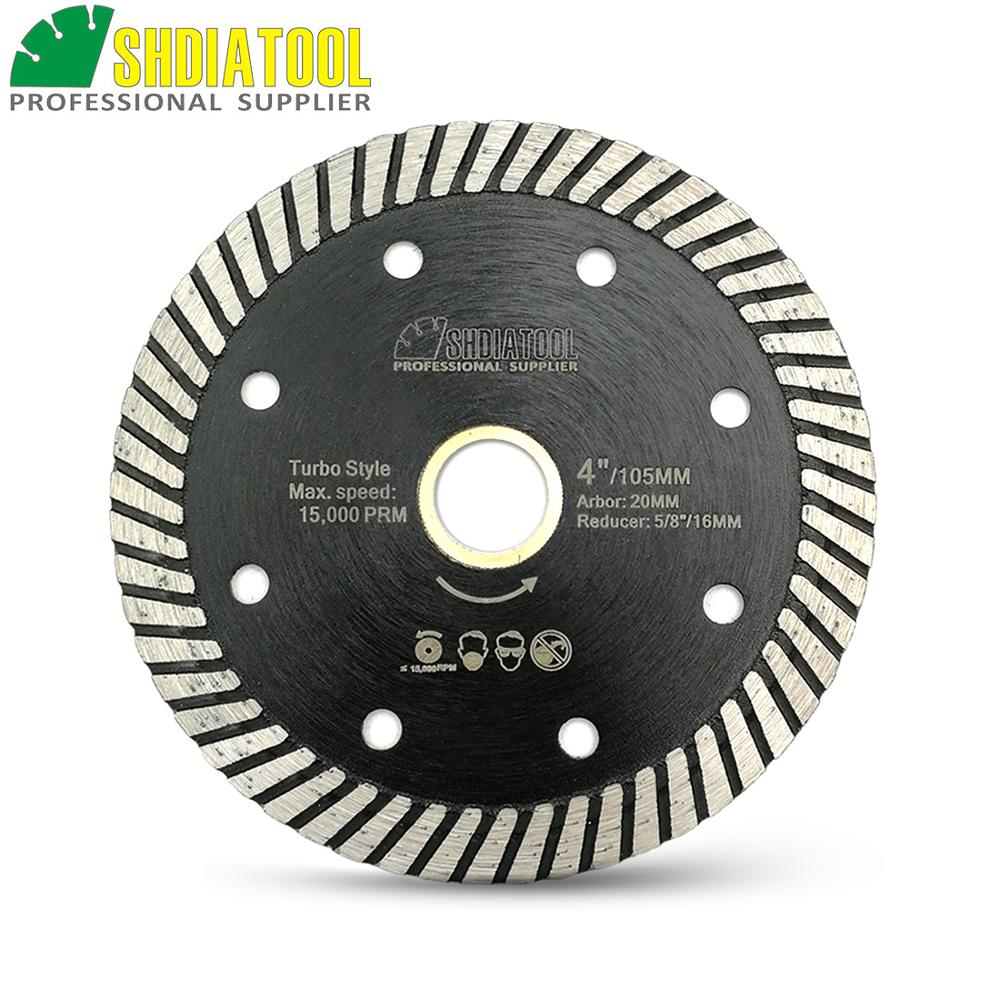SHDIATOOL Diamond Hot Pressed Diamond Turbo Saw Blade Hard Material Ceramic Tile Granite Cutting Disc With Multi Hole Baldes
