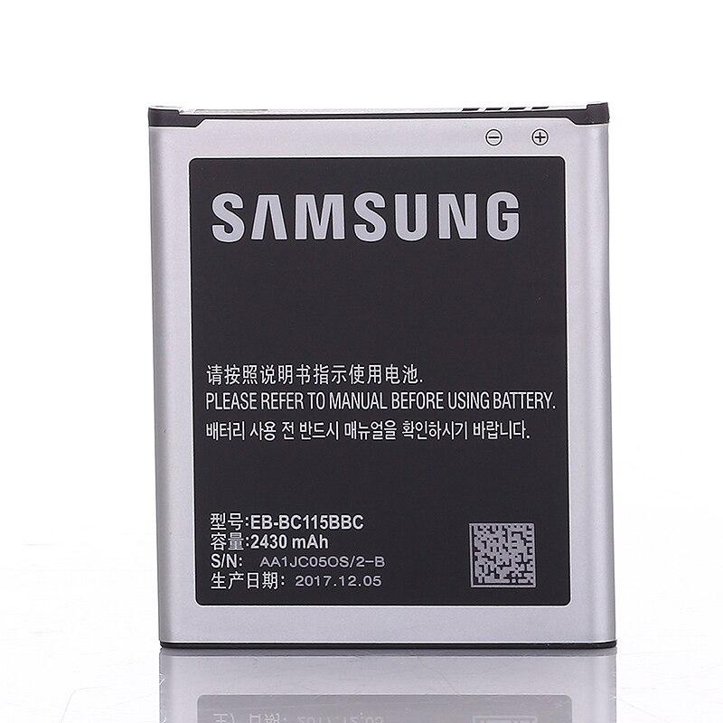SAMSUNG Original Batterie Wiederaufladbare EB-BC115BBC Für Samsung GALAXY SM-C1116 Authentische EB-BC115BBE 2430 mah K Zoom C1115 C1158