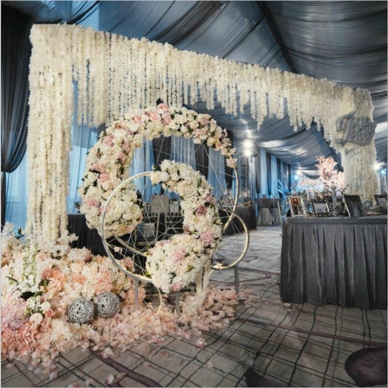 100 stks / partij Elegante Witte Orchidee Wisteria Wijnstokken 79 - Feestversiering en feestartikelen - Foto 5