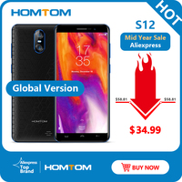 Global Version HOMTOM S12 Senior Mobile Phone 8GB ROM 5.0 inch Android 6.0 Quad Core 8MP + 2MP Dual Back Camera Cell Smart Phone