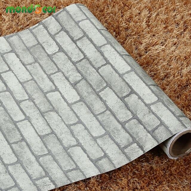 5M PVC Self Adhesive Wallpaper Roll do not need glue wall paper Vinyl brick stone wall stickers decorative wallpaper for walls