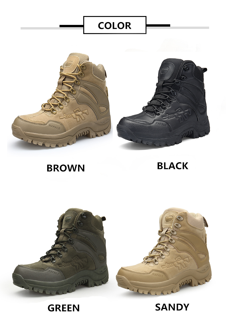 Brand Men's Boots Military boot Chukka Ankle Bot Tactical Big Size Army Male Shoes Safety Combat Mens Motocycle Boots (5)