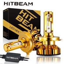 Mini faro Super brillante para coche H7 H4 H11 led H1 bombilla LED HB3 9005 HB4 9006 H3 H8 60W 12000lm faro para coche 6500K