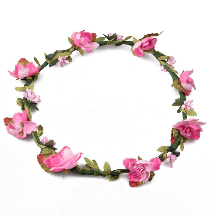 4fe2ecea26f ... 2018 Flower crown women Flower Hair accessories girl fashion Wreath Floral  Headwear Bridesmaid headband ...