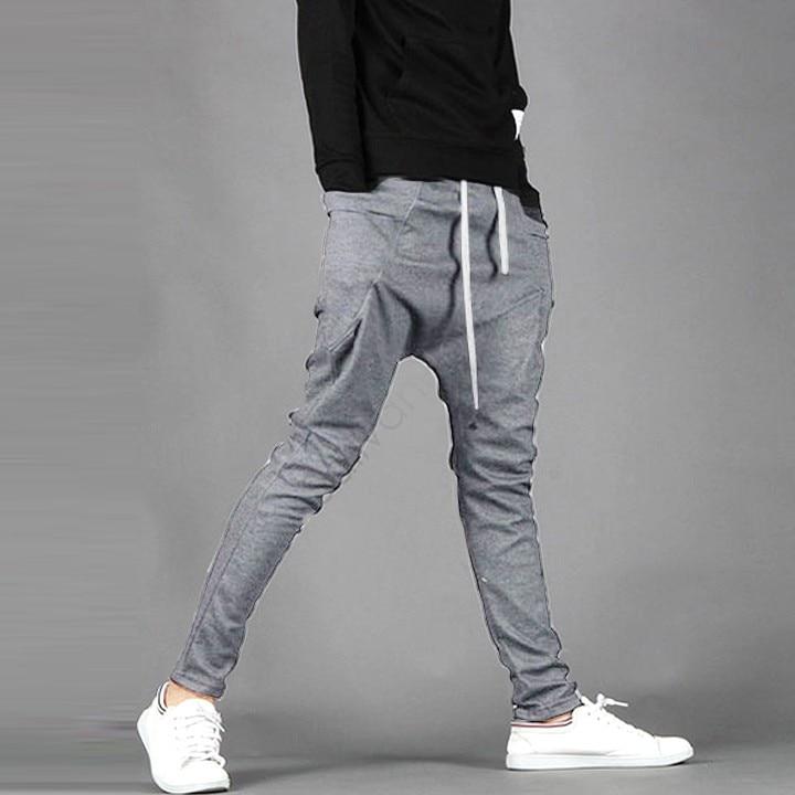 e7b20abd7 New Mens Casual Pants Men's Regular Fit Sports Harem Pants Bag Jogging  Trousers Black/Dark Gray 25-in Harem Pants from Men's Clothing on  Aliexpress.com ...