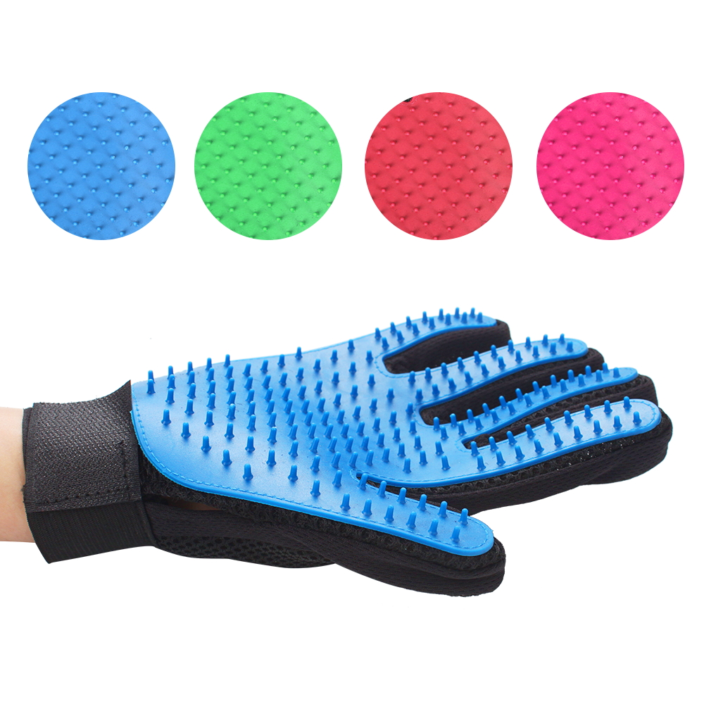 Silicone Pet Grooming Glove Brush 1