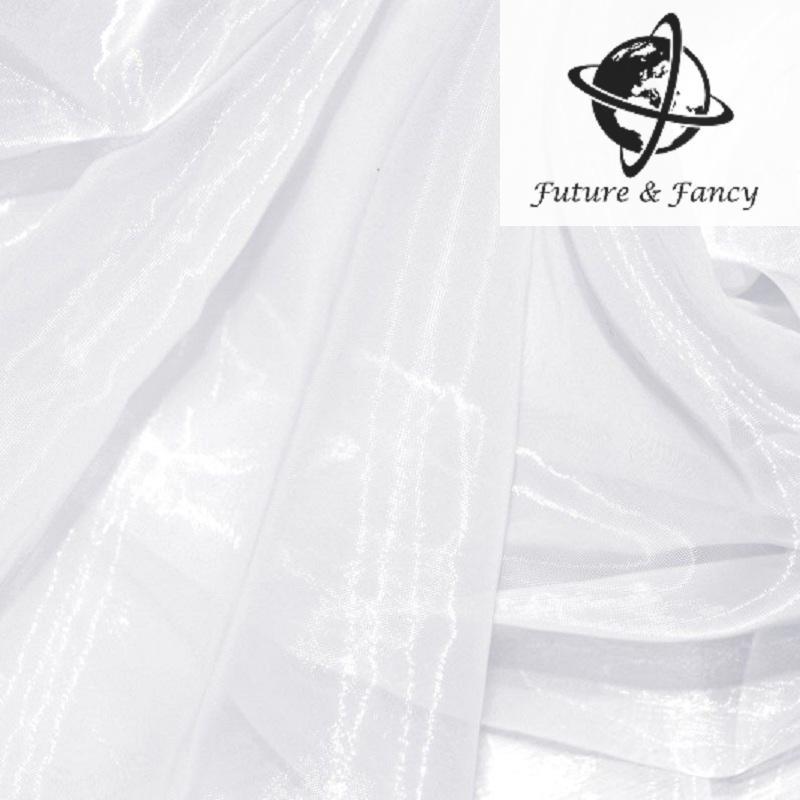 10 미터 순수한 흰색 반짝 이는 크리스탈 Organza 깎아 지른 신부 드레스 장식 재료, 웨딩 장식