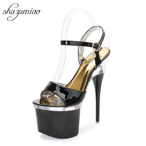 Steel Tube Dancing Shoes Women 2017 Summer New High Heel Peep Toe Sandals 18cm Thick the Bottom Waterproof 8.5cm Nightclub Shoe nokotion 682040 501 682040 001 for hp pavilion dv7 dv7t dv7 7000 laptop motherboard 17 inch hm77 ddr3 gt650m 2gb video card