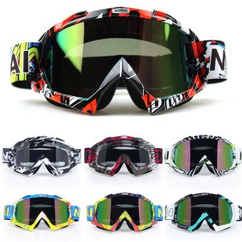 Motocross gogle motocyklowe ATV Off Road motor terenowy pyłoszczelna okulary wyścigowe anty wiatr okulary gogle MX tanie i dobre opinie VIRTUE Jeden rozmiar Unisex Mężczyźni Kobiety MULTI Jasne