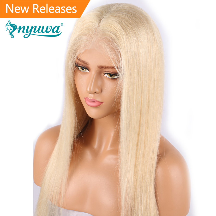 NYUWA 613 Lace Front Human Hair Wigs Pre Plucked With Baby Hair Straight 13x4 Lace Front