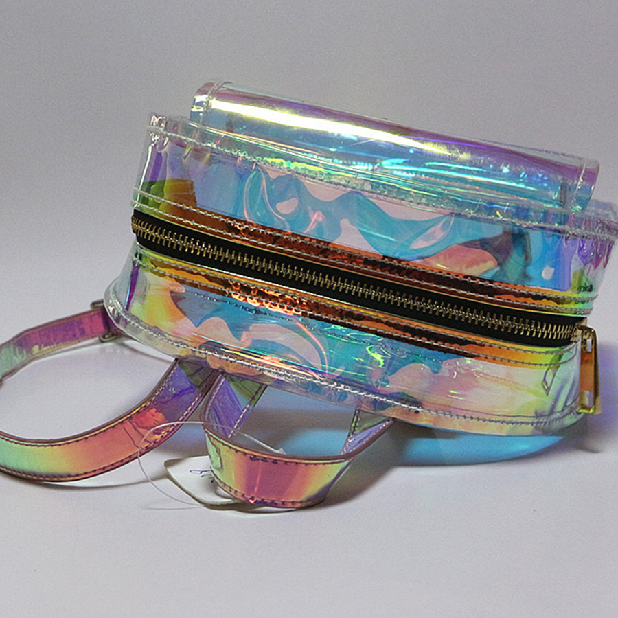 d430ef3effcb Laser Reflective Backpack Women Waterproof Jelly Transparent Rucksack  Ladies Large Capacity Knapsack Mini Solid Color Designer-in Backpacks from  Luggage ...
