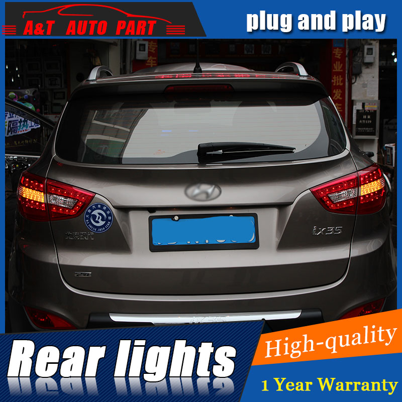 Auto Clud Car Styling for Hyundai IX35 LED Taillights 2010-2013 Benz Tail Lamp Rear Lamp DRL+Brake+Park+Signal led lights.