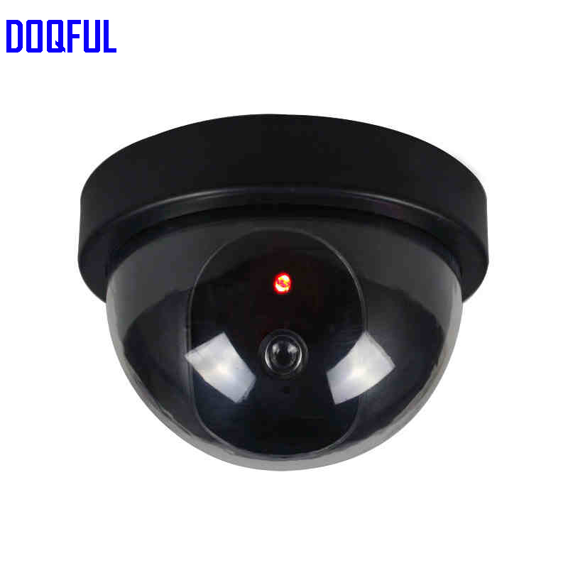 6pcs/lot Fake Camera Dome Dummy Surveillance Indoor Outdoor Home Office CCTV Security Cameras Blinking Red LED image