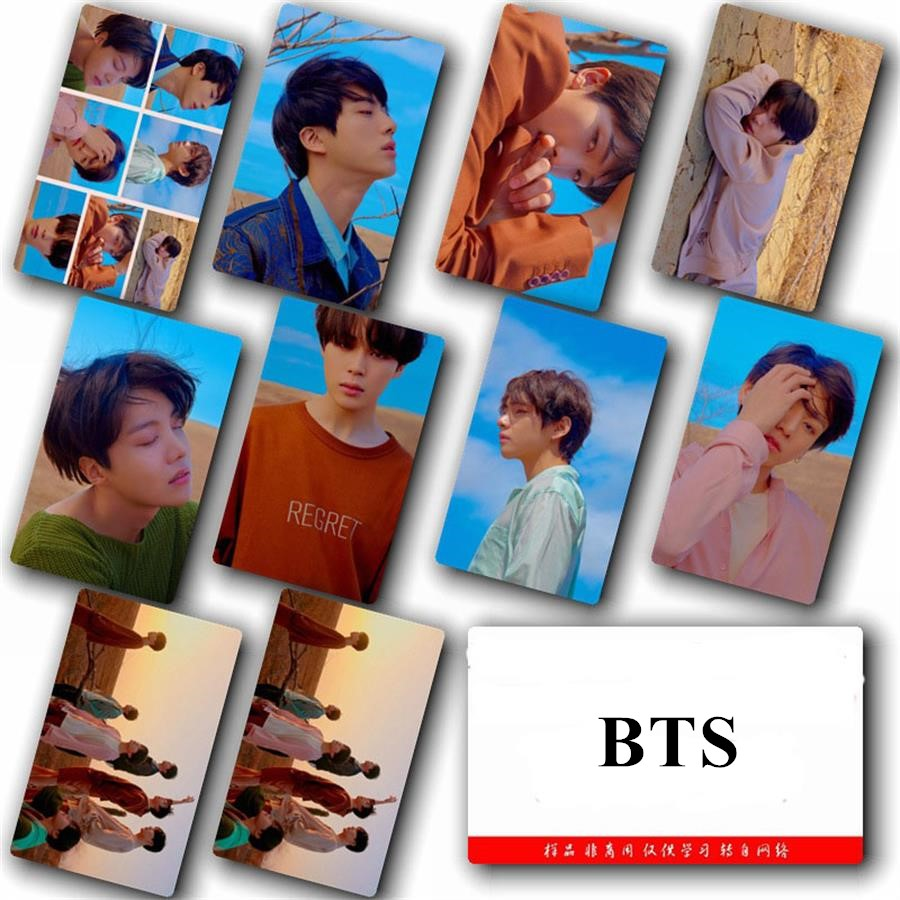 Kpop Bts Love Yourself Tear Hd Crystal Photo Cards Sticker Jung Kook Suga V Sticky Photocard Poster 10pcs/set Jewelry & Accessories