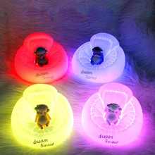 New Hot Sale LED Fox Night Light Home Bedroom Desktop 7 Changing Colors Lovely Shape Decoration Bedside Lamp