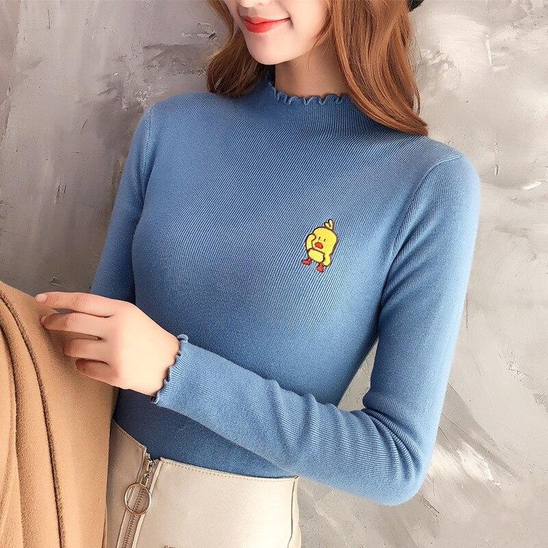 Nouveau 2018 Icône L'automne Coréenne De Chandail Canard Jaune Version 9955 Izq0vndwz