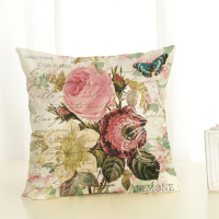 Flowers One Side Printing Home Decor Sofa Car Seat Decorative   Cushion     Cover   Pillow Case Capa Almofada 45x45cm