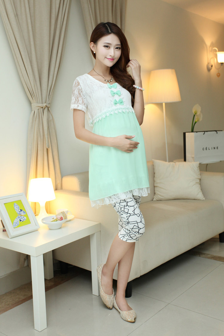 summer style Lace Solid Maternity Dresses Clothing For Pregnancy Clothes For Pregnant Women Gravida Wear 2015