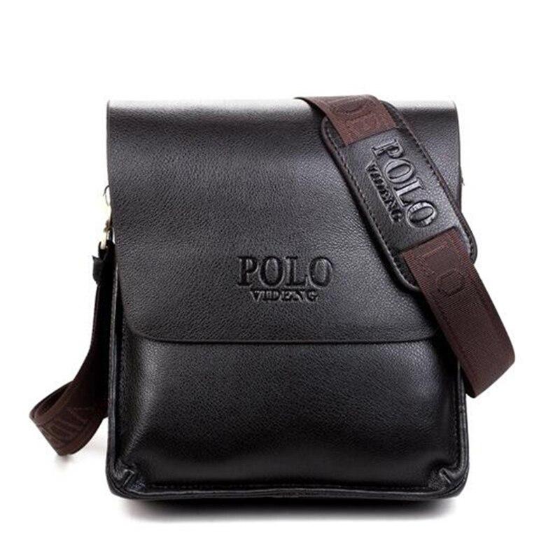 Mens crossbody bolso 2016 Polo famosa marca de cuero de diseño de los hombres bolso casual de negocios de cuero mens Messenger Bag vintage moda