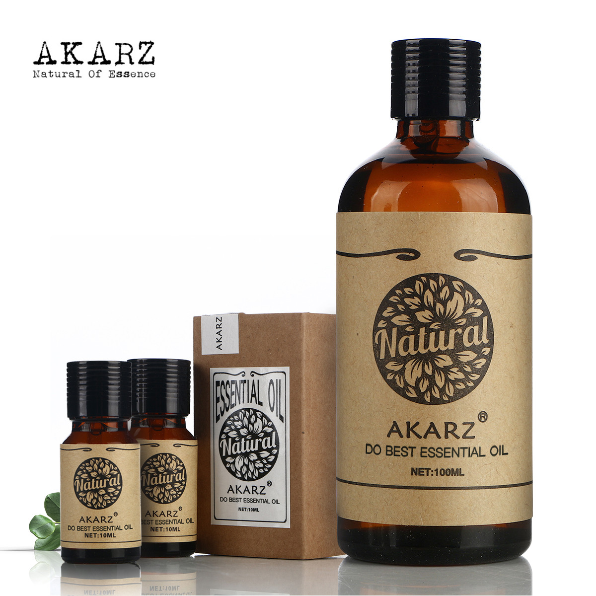 AKARZ Famous brand Whitening sets Rose essential oil (10ml) Rose Hip oil(100ml)peppermint oil(10ml) Repair wrinkles scars Oil alobon 10ml 120