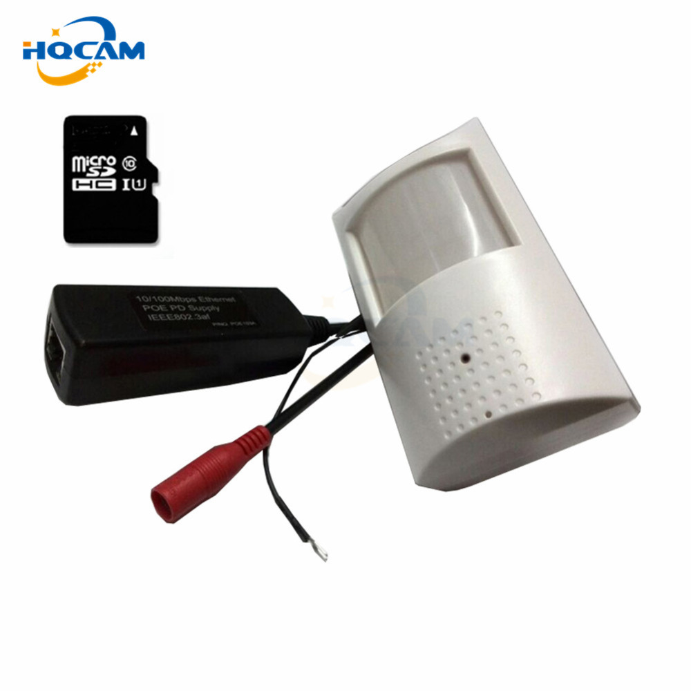 HQCAM POE 1080P Audio Night Vision Camera Network Mini IP Camera 2MP Security Low Lux P2P CCTV IP Cam POE IP camera TF Card Slot