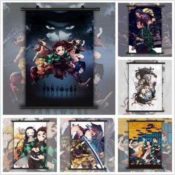 Demon Slayer: Kimetsu no Yaiba Tanjirou Nezuko Anime manga wall Poster Scroll недорого