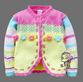 2014 New Girl's Flower Fengy Unbobi Children Woollen Sweater For Girl Thick Autumn Spring children cardigan wholesale and retail