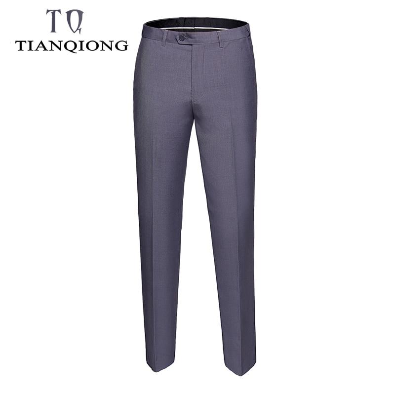 2019 Men's Spring Autumn Fashion Business Casual Long Pants Suit Pants Male Elastic Straight Formal Trousers Plus Big Size S-6xl