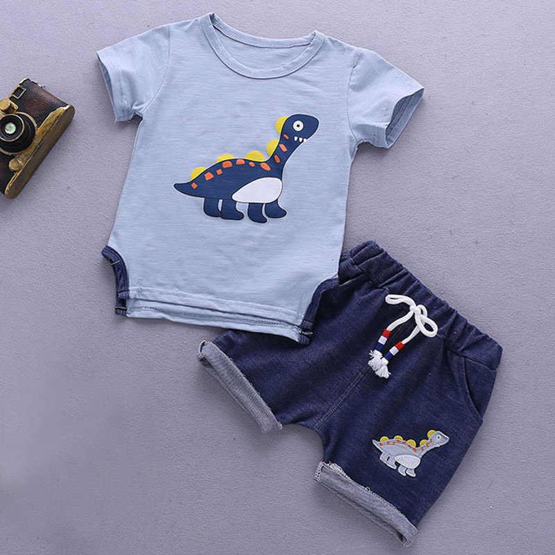 813a9a41 ... 2019 Summer Boy Clothes Sets Short Sleeve Sport Suit Toddler Boy Clothes  Children Clothing Outfits Suit ...