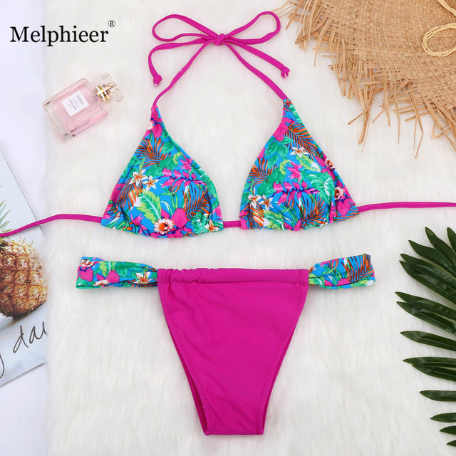 8774028b92ef4 Bikini 2019 Brazilian Push Up Bikinis Set Lady s Summer Beach String  Biquini Swimsuit Women Swimwear Bathing Suits Swimming Suit
