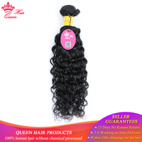 Queen Hair Water Wave Bundles Peruvian Hair Weave Bundles 1 pc Can Buy 3 / 4 Bundle Human Hair Bundles remy Hair extensions