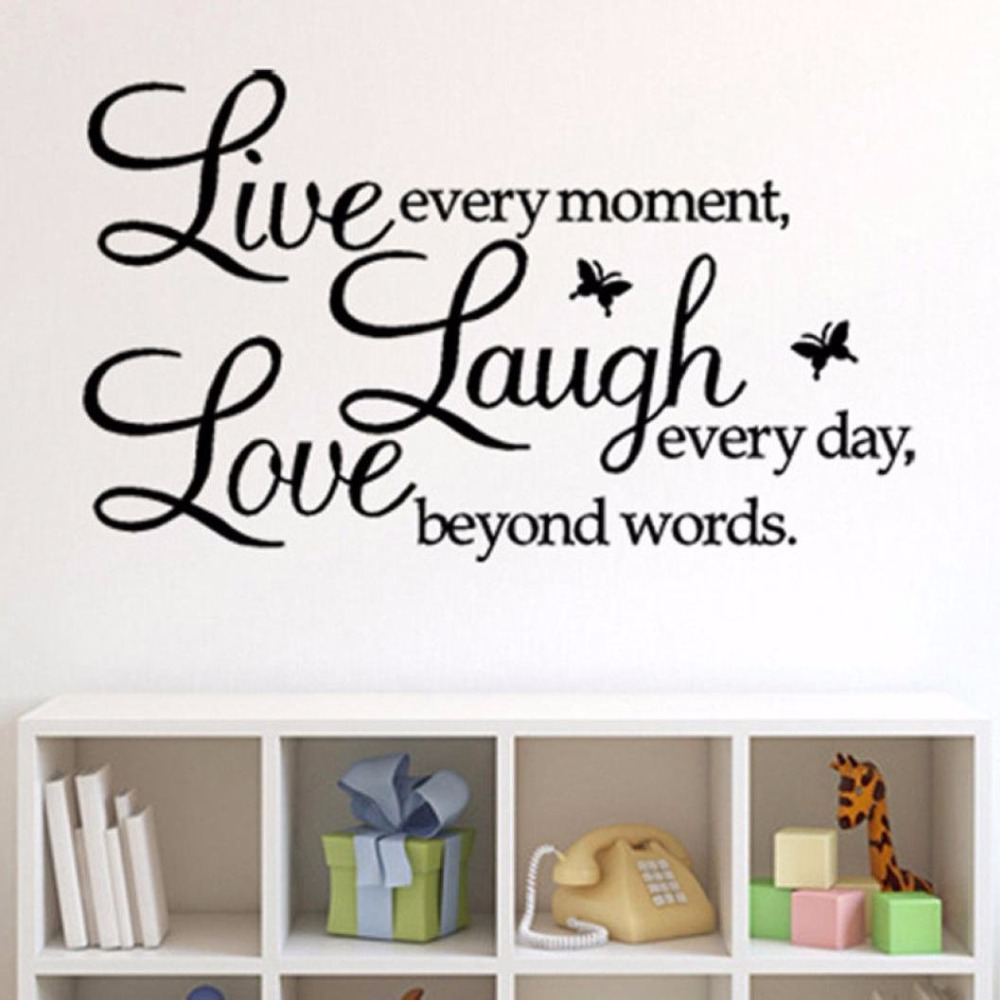 Live Laugh Love Butterfly Inspirational Quotes Livingroom Bedroom ...