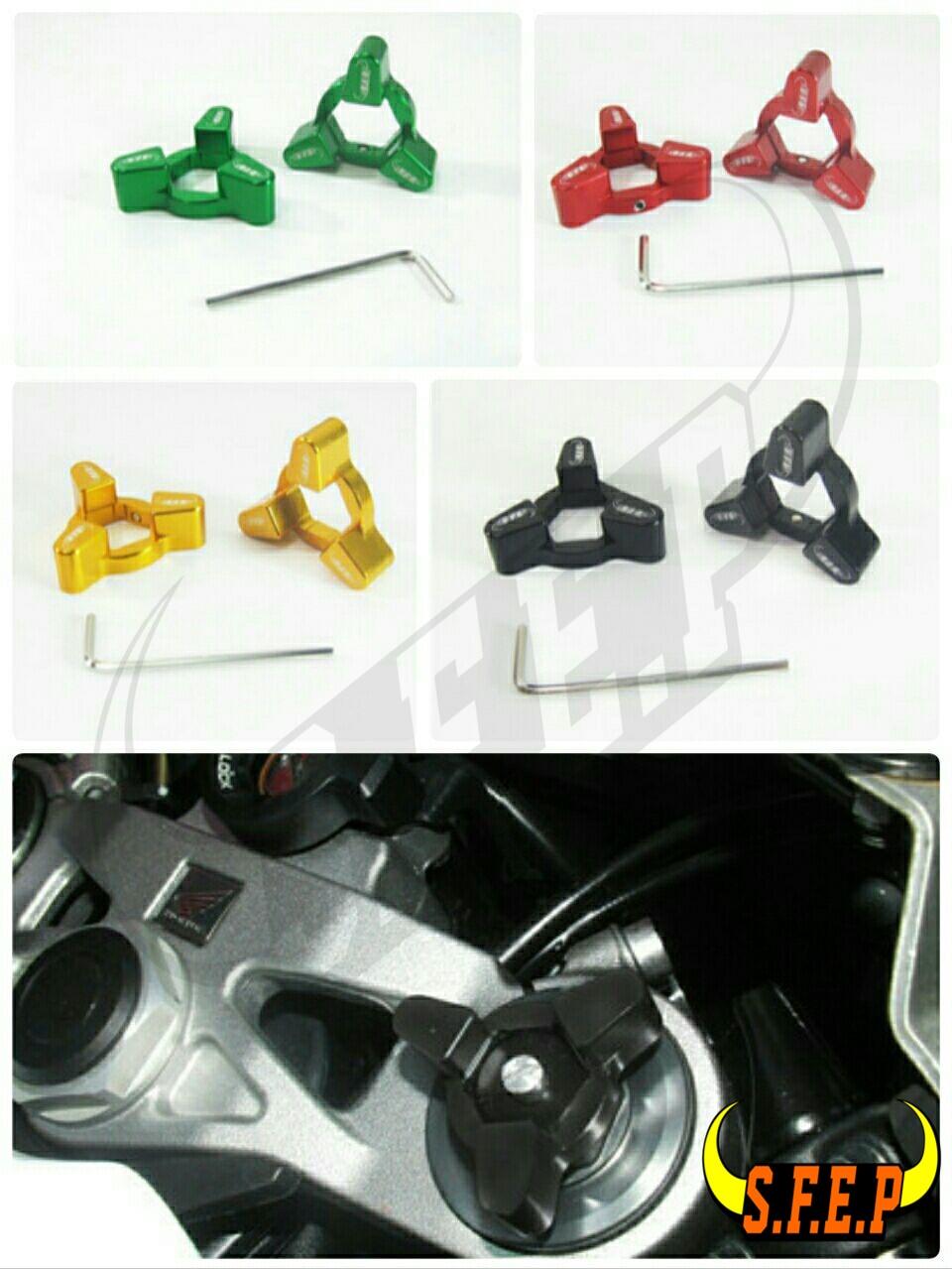 Motorcycle CNC Fork Preload Adjusters For Ducati 999 + 749 03-06/ Hypermotard 1100/S/EVO 07-08 +10
