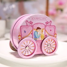 6 pcs/lot New Pink Color Romantic Storage Candy Box for Wedding Party, Tea Creative Case /Gift /Jewelry /Pastry Tin Iron Boxes(China)