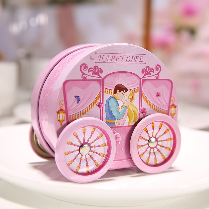 6 pcs/lot New Pink Color Romantic Storage Candy Box for Wedding Party, Tea Creative Case /Gift /Jewelry /Pastry Tin Iron Boxes