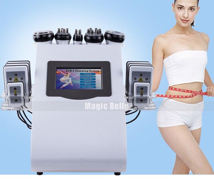 2019 новый стиль 6 в 1 40 K ультразвуковая кавитация вакуум радиочастотный лазер 8 колодки lipo лазерная машина для похудения для домашнего исполь