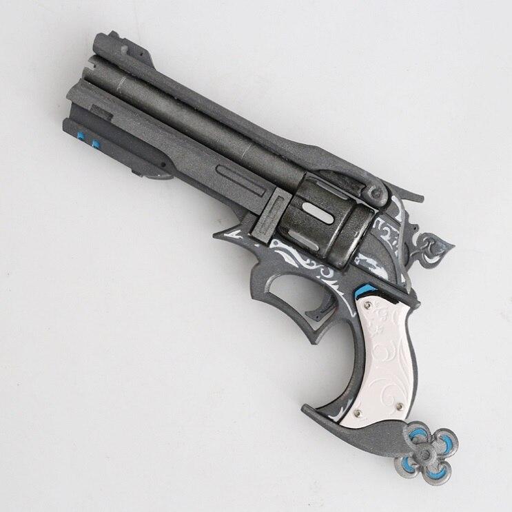 Ow Jesse McCree Cosplay Mini Small Metal Gun Revolver Model Figure Toys